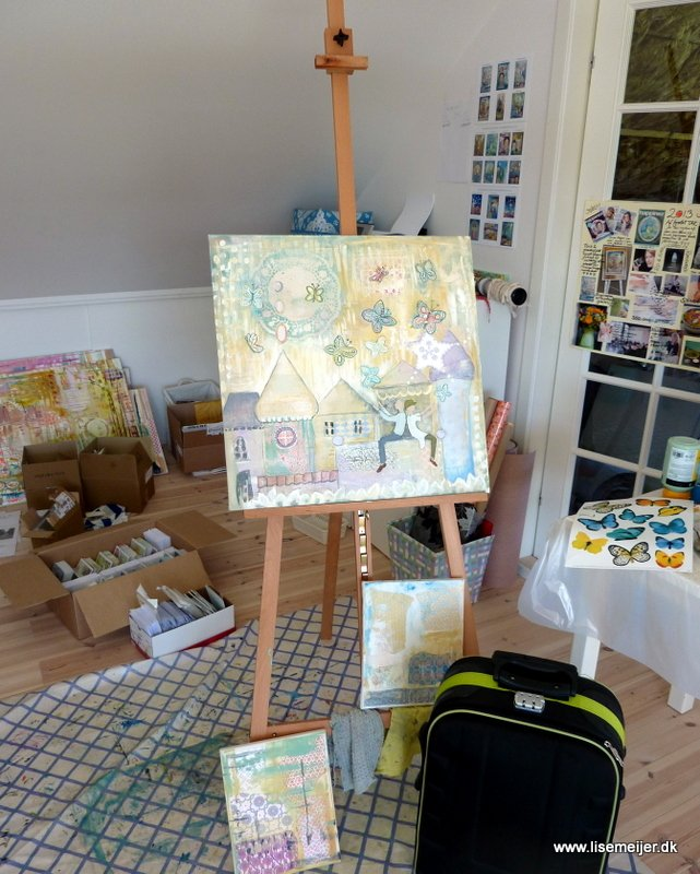 On my easel and life
