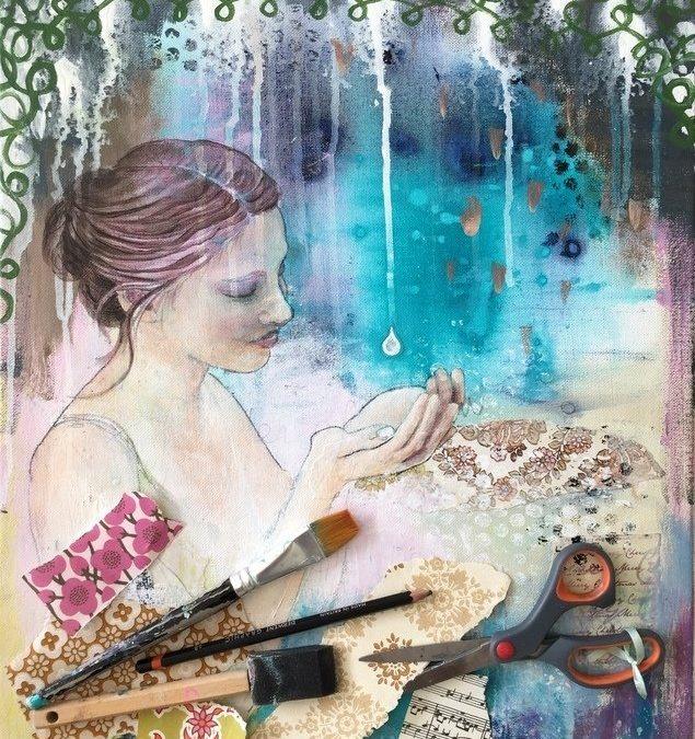 TALKING WITH TREES workshop – en rejse i mixed media maleri