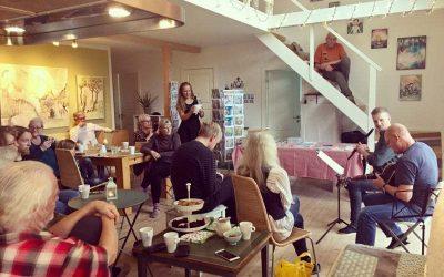 Glimt fra åbent hus med Kunst, Kaffe og Irsk musik!